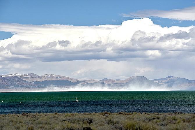 The wind kicks up dust at Mono Lake on Monday in this photo taken by Gardnerville resident Tim Berube.