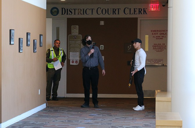 Carson City law enforcement, first responders, and courthouse staff are all participating in the simulated 'active shooter' training at the courthouse.