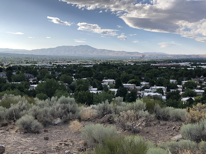 View of Reno from the Huffaker Park Lookout Trail.