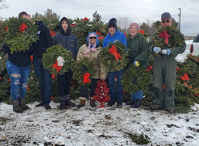 The High Desert Grange held its wreath recycling event at the Northern Nevada Veterans Memorial Cemetery on Jan. 23.