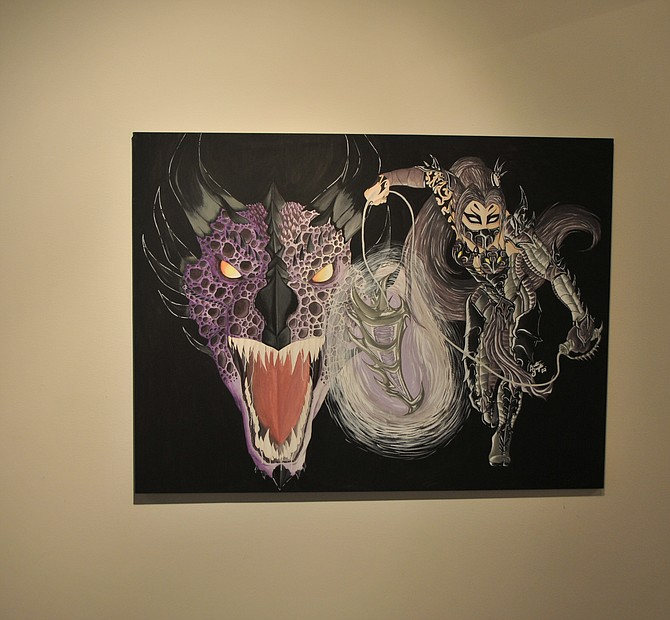 WNC student Bretta Guzzetta's love of dragons is depicted in her college gallery exhibit 'Dragon's Reach,' which will be showing through March 3 in the Bristlecone Building on the Carson City campus.