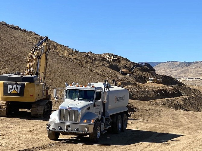 Campbell Construction recently mass grading for a new housing development in Somersett in Northwest Reno, as seen here the afternoon of Oct. 20, 2020.