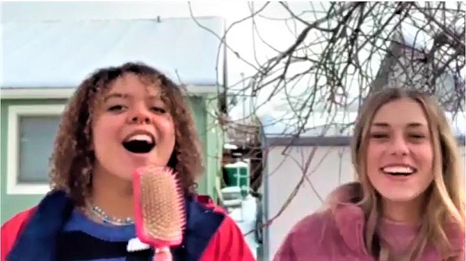 CHS Seniors Serena Dantzler and Abby Golik introducing the 2021 Virtual Talent Show.