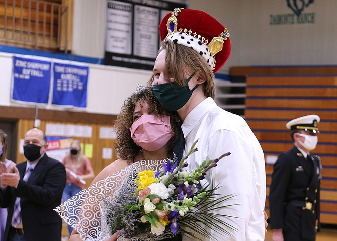 Seniors Serena Dantzler and Will Breeding were crowned Carson High School's 2021 Winterfest queen and king Friday night in the gym during a ceremony closed to the public and limited to a few family members only.