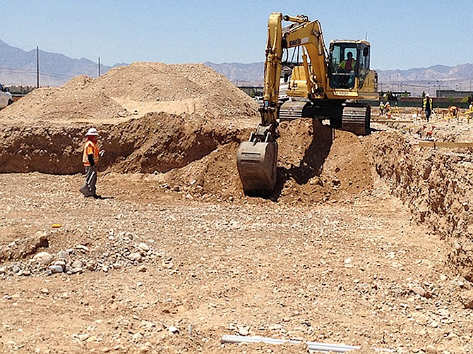 Diamond Concrete Cutting provides service and labor to other commercial subcontractors and general contractors throughout Nevada. Pictured is an example of a DCC project.