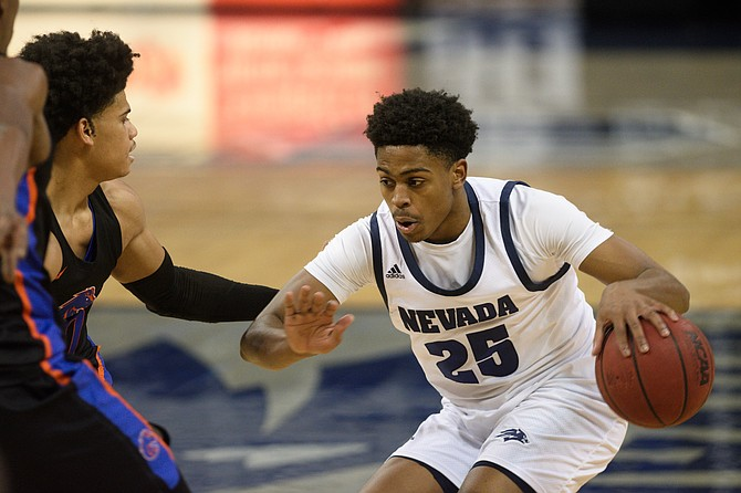 Nevada's Grant Sherfield was named Mountain West Player of the Week after the Pack swept Boise State. (Photo: University of Nevada)