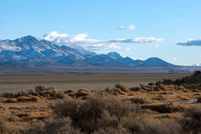 The Black Rock Desert on Dec. 31, 2020. Blockchains LLC purchased water rights in a nearby groundwater basin about 100 miles from its land in and around the Tahoe Reno Industrial Center.