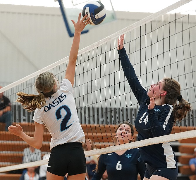 Oasis Academy senior Sequoya Casey and the Bighorns volleyball program will begin their season with tryouts Monday.
