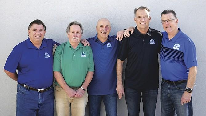 Barney Arneson, Dennis Bush, Greg Higgins, Robert Sundstrom and Rick Tucker have all been on the Blue Team for 40 years or more.