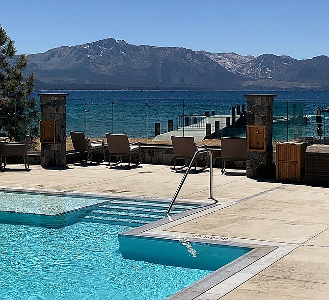 One of the amenities cited by the Assessor's Office is the pool overlooking Lake Tahoe.