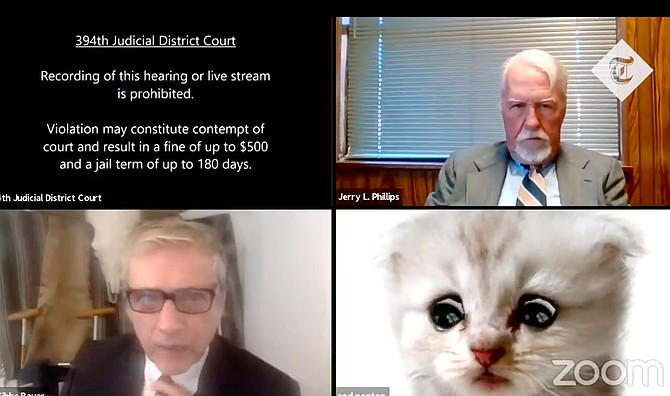 A Texas attorney made national news after his Zoom filter turned his image into a kitten during a virtual court hearing.