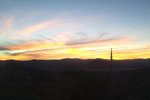 Jacks Valley resident Brenda Robertson captured this view of sunrise on Monday.