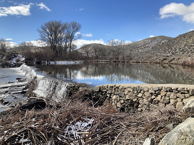 Photo: Kyler Klix/Nevada Appeal The Mexican Dam on the Carson River is a nice destination at the end of the Mexican Ditch Trail in Carson City.