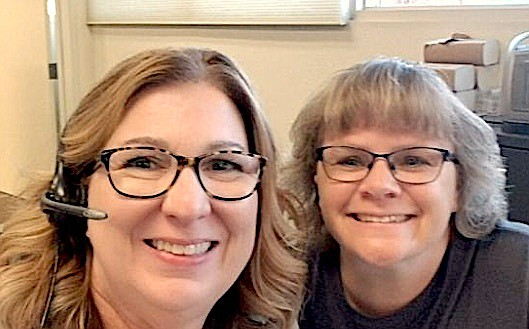 Douglas County 911 Dispatcher Kristin Oilar, left, is facing treatment for pancreatic cancer. Her best friend and 911 Dispatcher Melissa Johnson started a GoFundMe account to help.