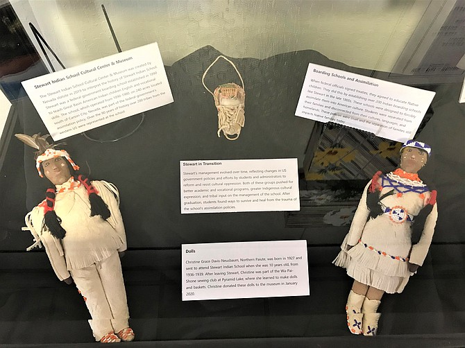 """Native American artists associated with the former Stewart Indian School will be on display through April at the Reno Tahoe International Airport Concourse B, as part of the exhibit """"Propelling Nevada: Communities, Heritage, Education & Economy Through the Arts."""""""