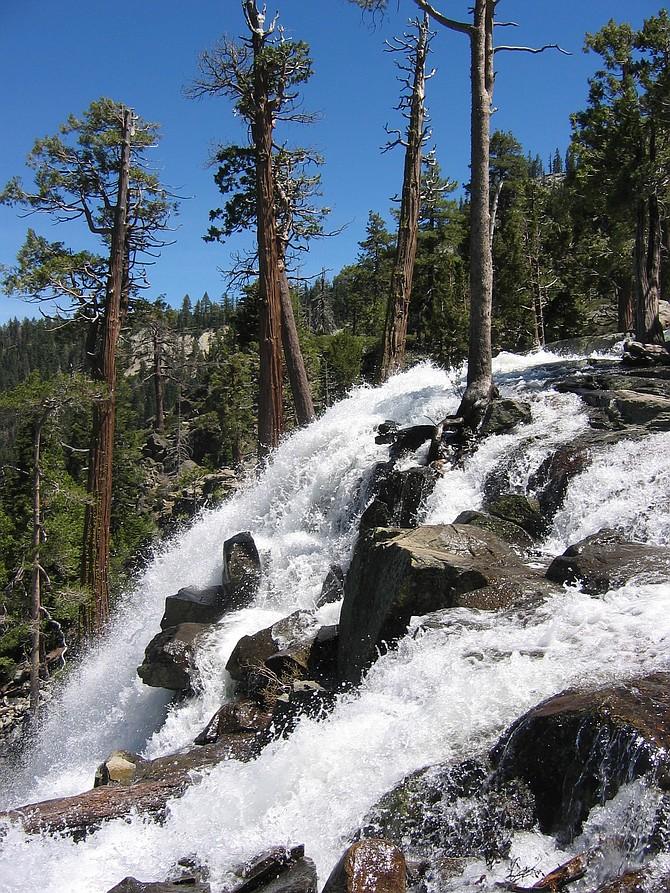 Impressive Eagle Falls spills down the mountainside into Lake Tahoe. Richard Moreno