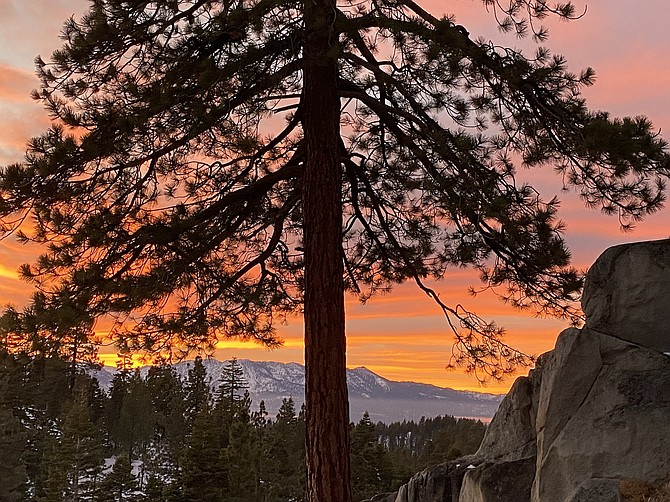 The scenery is just one of the attractions for visitors to Lake Tahoe.