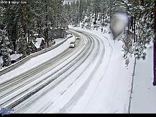 Traffic camera of Highway 50 at Zephyr Cove this morning