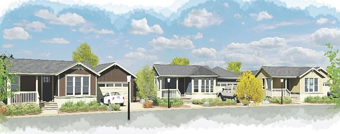A rendering of the street scape at Stoneridge Villas proposed for the Muller Lane Parkway roundabout south of Gardnerville.