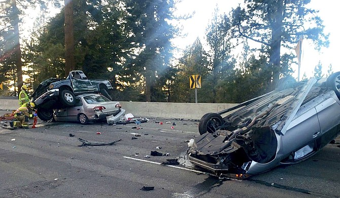 A collision on Highway 50 claimed the life of a Gardnerville man on Sunday.