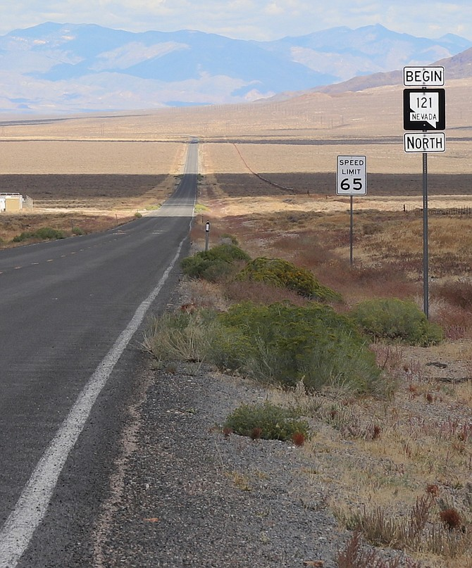 Steve Ranson/LVN The Dixie Valley Road will transition from a paved to gravel road this spring.