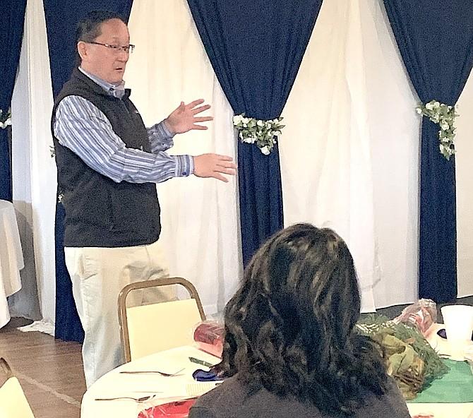 Steve Ranson / LVN Duke Nishimura, an adviser with the Nevada Small Business Development Center, spoke at the recent CEDA breakfast meeting.