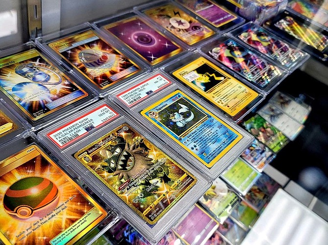 The Nest Cards and Collectibles in Carson City has seen a surge of customers seeking Pokémon cards during the pandemic. Courtesy photo