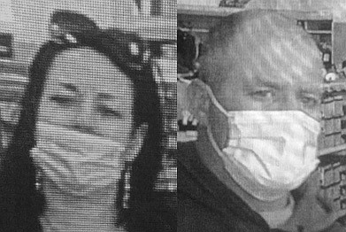 A woman is being sought in a shoe theft that occurred March 16 at Famous Footwear. She left the store with the man appearing in the photo on the right.