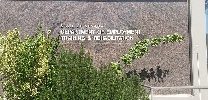 Exterior view of the Department of Employment, Training and Rehabilitation office in Carson City.