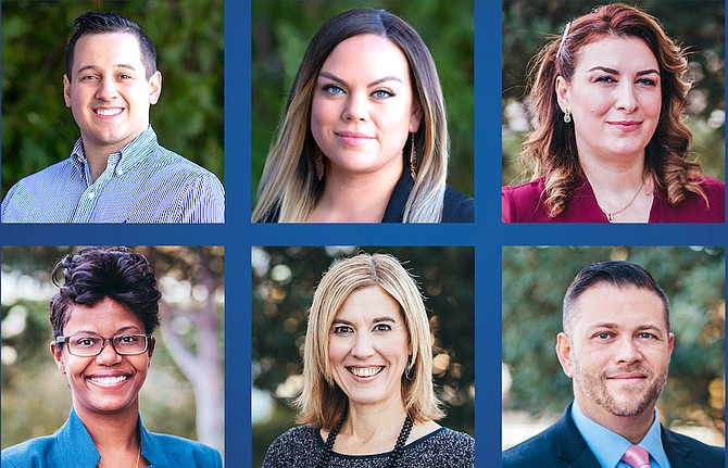 This year's Open Door Award winners are: Brendon Borrego, Melissa McIntee, Lela Palsgrove, Quintina Sheppard, Susan Stanton and Nabor Torres.