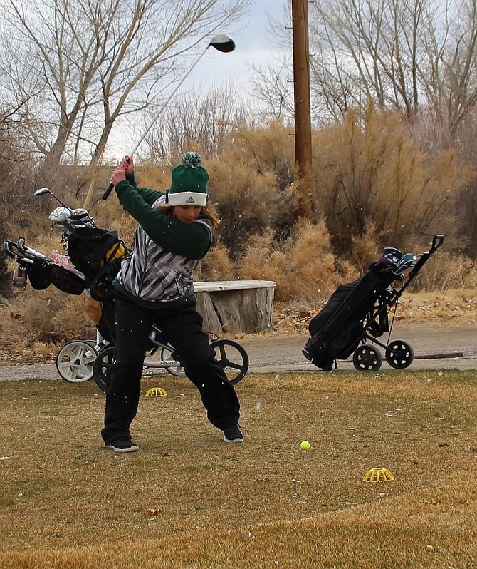 Fallon junior Lainee Reid finishes second in last week's league golf tournament.