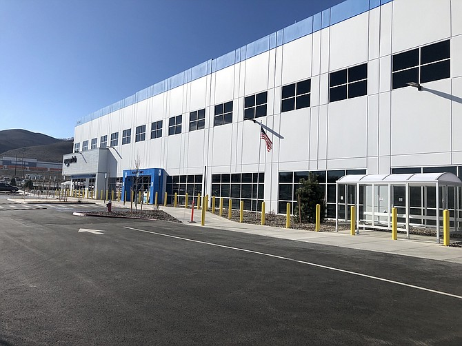 Exterior view of Amazon's newest Nevada delivery station, which opened in October at 9740 N. Virginia St. in Reno.