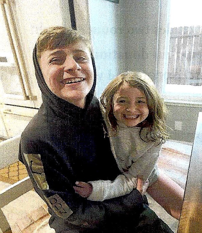 Daniel Hopkins and his sister.