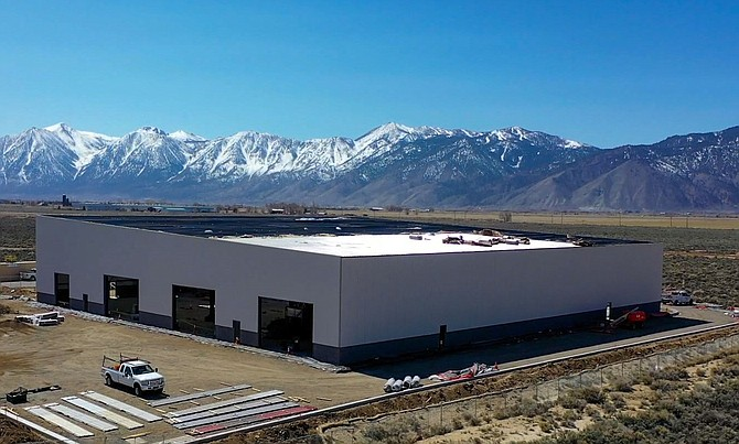 In June, Symmetrix Composite Tooling will be moving from its Carson City shop into this 40,000-square-foot facility in Minden (seen in March), which is being built by United Construction.
