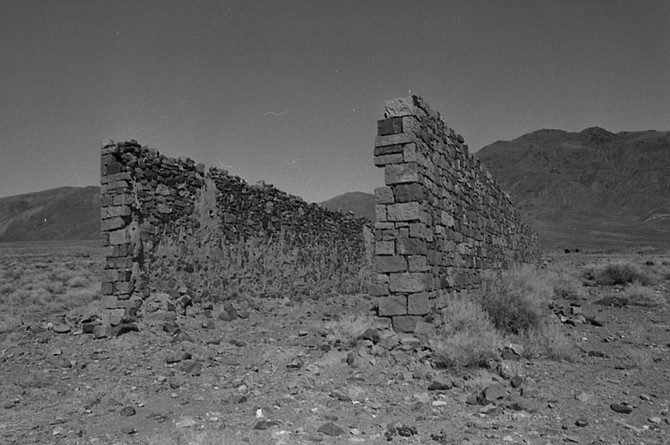 These stone walls are all that remain of a general store owned by Borax Smith and his brother in the near-ghost town of Marietta.