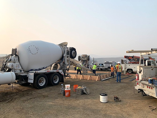 Silver Strike Concrete's new plant in Lockwood was built on a 4-acre piece of property on Granite Construction's quarry site in Lockwood.