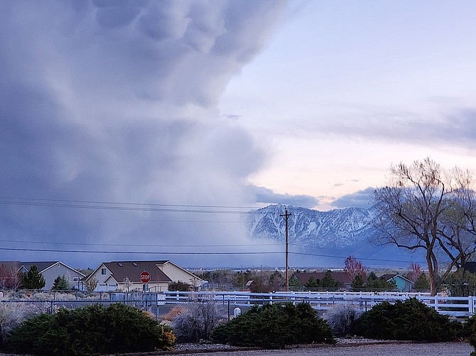 Johnson Lane resident Sandy Duvall took this photo of a squall on Wednesday night.