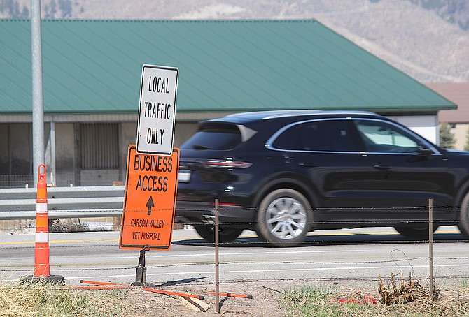 While Highway 88 will be closed at Waterloo Lane and the roundabout just south of Minden this weekend and next, people will still be able to reach Carson Valley Veterinarian Hospital and the Dangberg Home Ranch.