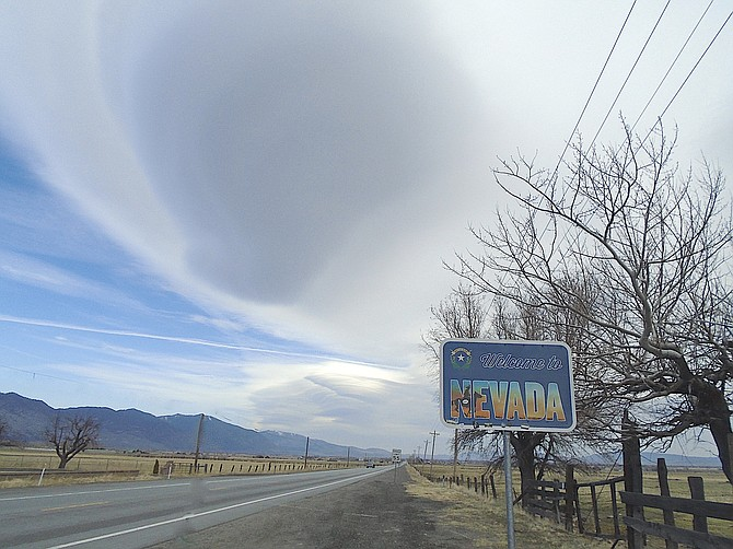 The Welcome to Nevada sign along Highway 88. Photo by Lisa Gavon
