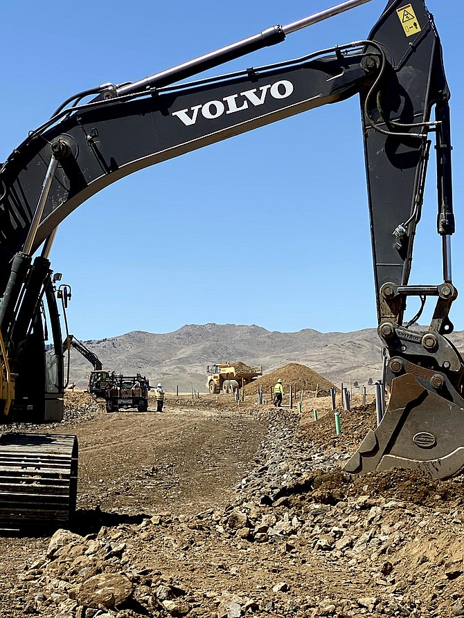 Grading work has taken more than five months to complete at Desert Wind Homes' Brae Retreat, currently under construction in Somersett in Northwest Reno.