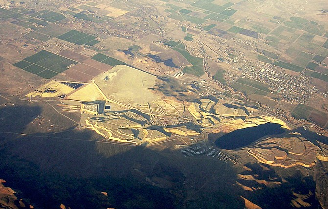 A Nevada Department of Environmental Protection aerial photo of the Anaconda Mine which lies on the other side of the Pine Nut Mountains from Carson Valley.