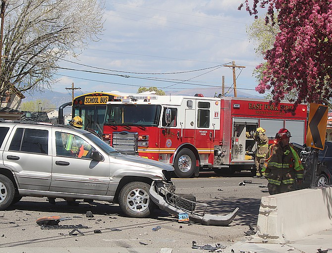 Highway 395 is blocked this afternoon due to a motor vehicle collision at Douglas Avenue. Take an alternate route.