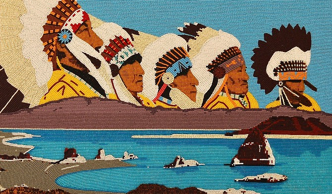 Work by Burton Pete, a Northern Paiute from Schurz.