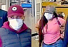 The identities of a man and woman are being sought by Douglas County Sheriff's investigators for credit card theft.