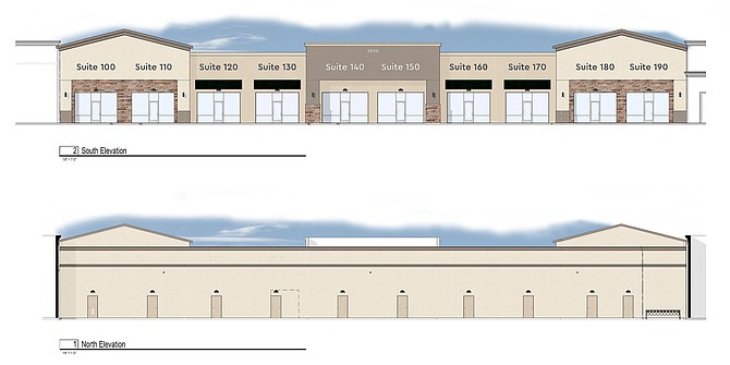 Conceptual view of the new building under construction, which will add 13,200 square feet of retail space to the center.