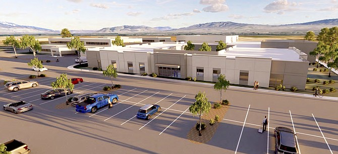 A rendering of Carson Valley Medical Center with its future expansion. Work is expected to begin this year.