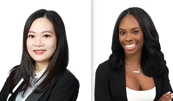 Jade Huang, left, and Shanice Harvey.