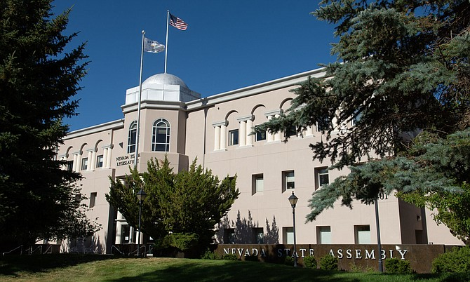 The Nevada Legislature Building in Carson City on Tuesday, July 14, 2020.