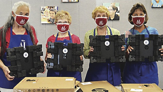 Assistance League donated over 430 laptops to the Washoe County School District for distance learning last fall.