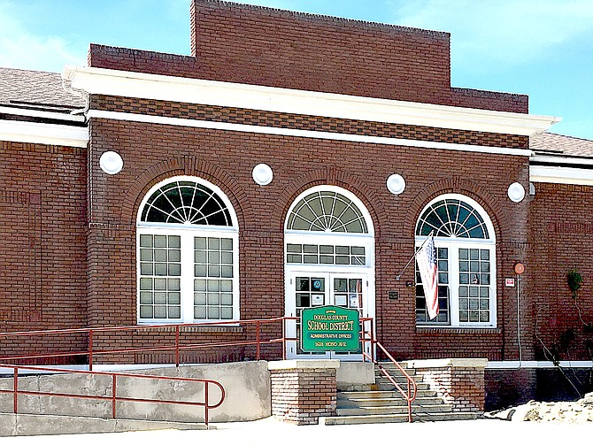 The historic Minden Elementary School serves as offices for the Douglas County School District.